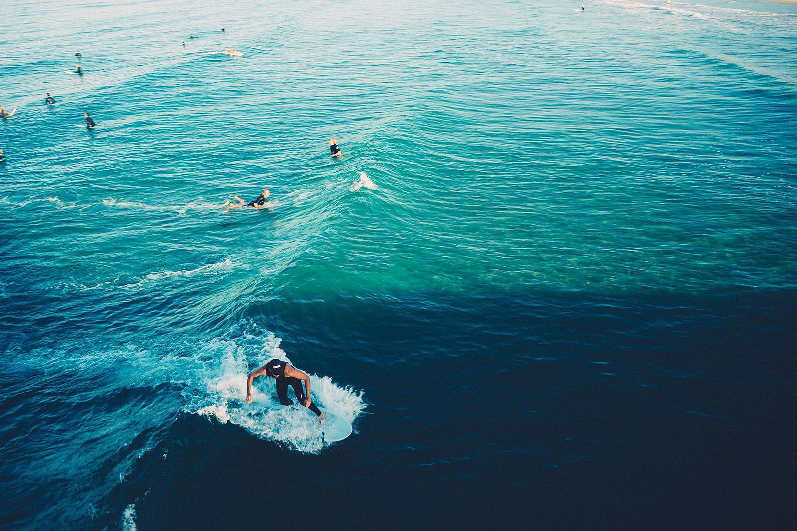 Surfing in summer
